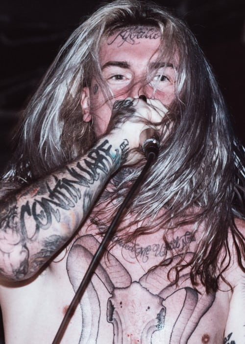 Ghostemane during a performance as seen in November 2017