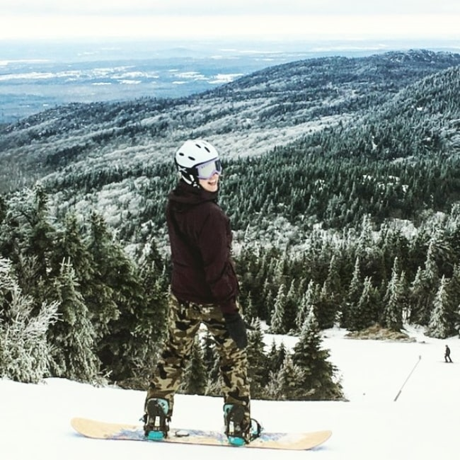 Gina Philips as seen in a picture while enjoying her time skiing in Mont Orford, Quebec, Canada