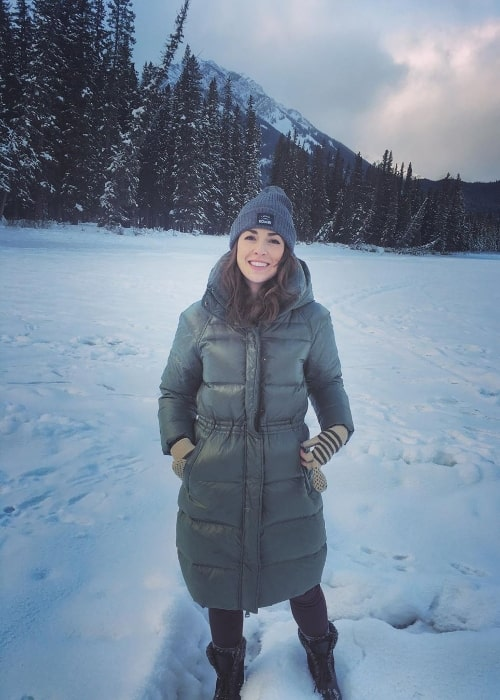 Gina Philips as seen while posing for a picture in Banff, Alberta, Canada in January 2020