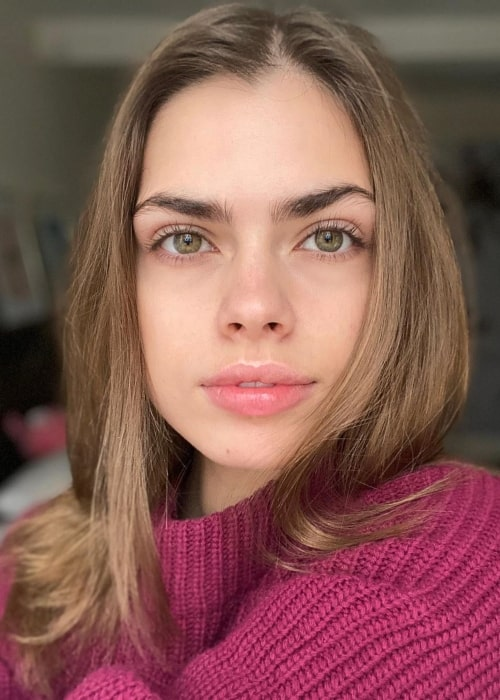 Gwen Van Meir as seen in a close-up picture that was taken in New York City, New York in January 2020