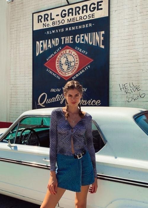 Gwen Van Meir as seen in a picture taken in Los Angeles, California in October 2019