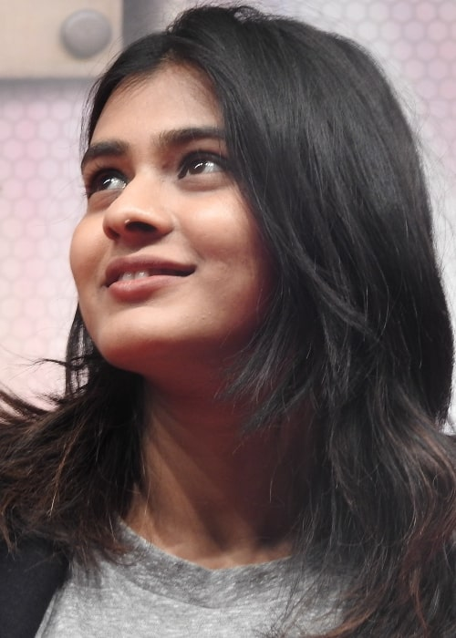 Hebah Patel as seen in a picture taken on December 23, 2016 during her visit at Vasireddy Venkatadri Institute of Technology in Andhra Pradesh