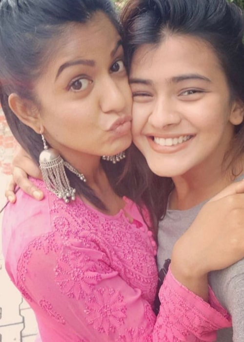 Hebah Patel as seen in a selfie taken in August 2019 with her close friend actress Ishita Dutta Sheth