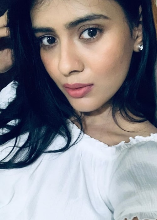 Hebah Patel as seen in a selfie taken in December 2019
