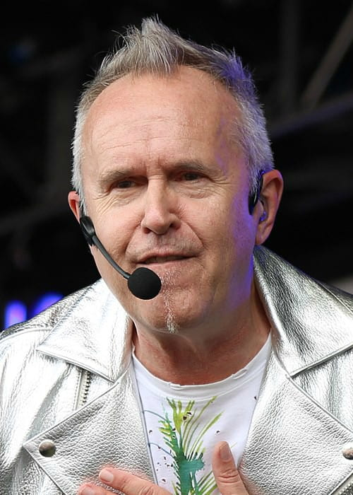 Howard Jones during a performance as seen in May 2015