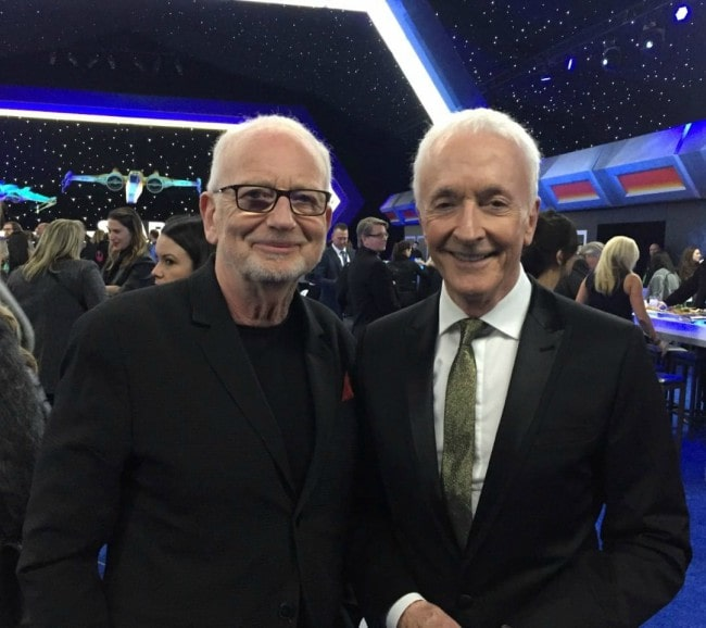 Ian McDiarmid (Left) and Anthony Daniels as seen in December 2019