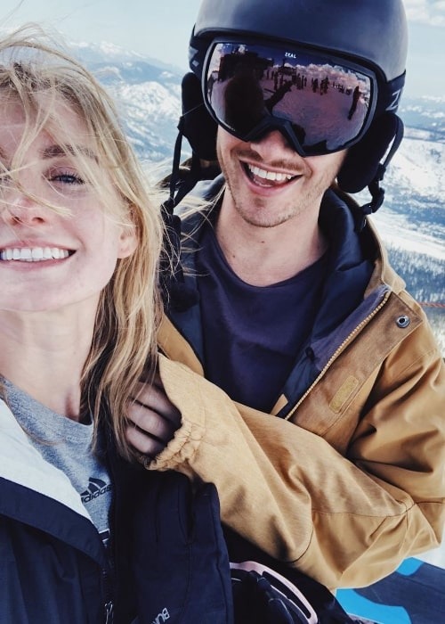 Isabel Durant as seen while taking a selfie along with Danny at Mammoth Mountain in California, United States in May 2019