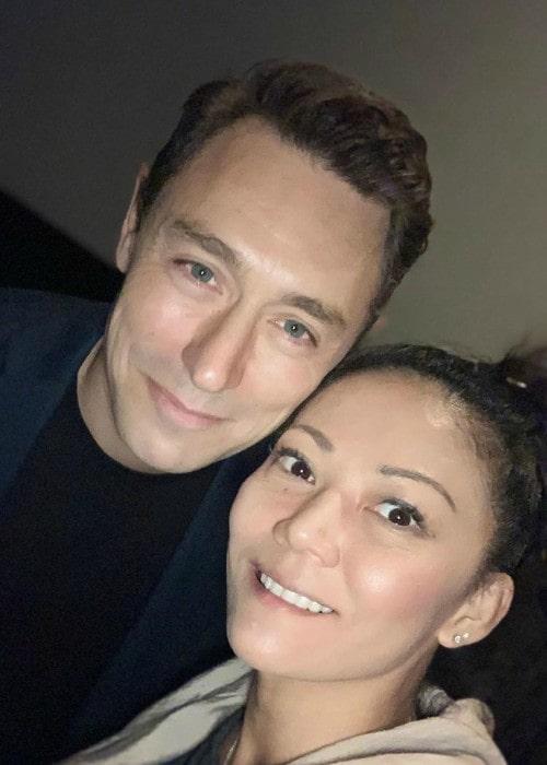 JJ Feild and Sakura Sugihara in a selfie in October 2019