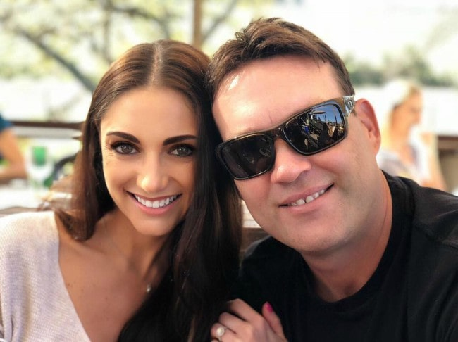 Jacques Kallis and Charlene Engels as seen in August 2018
