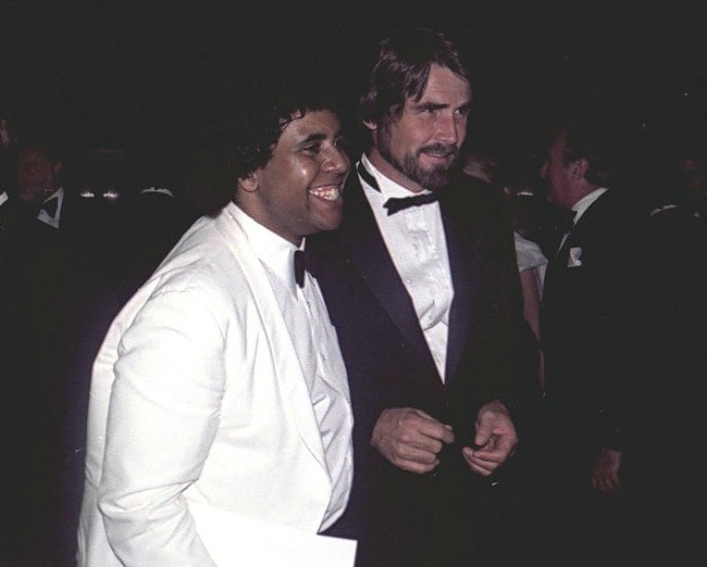 James Brolin (Right) with a fan in November 1981