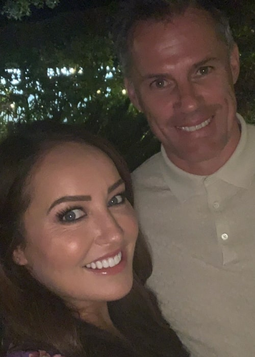 Jamie Carragher as seen in a selfie taken with his wife Nicola Carragher in a picture that was taken in the past