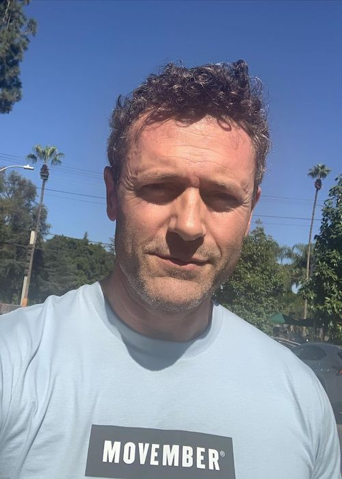 Jason O'Mara promoting Movember movement in 2019