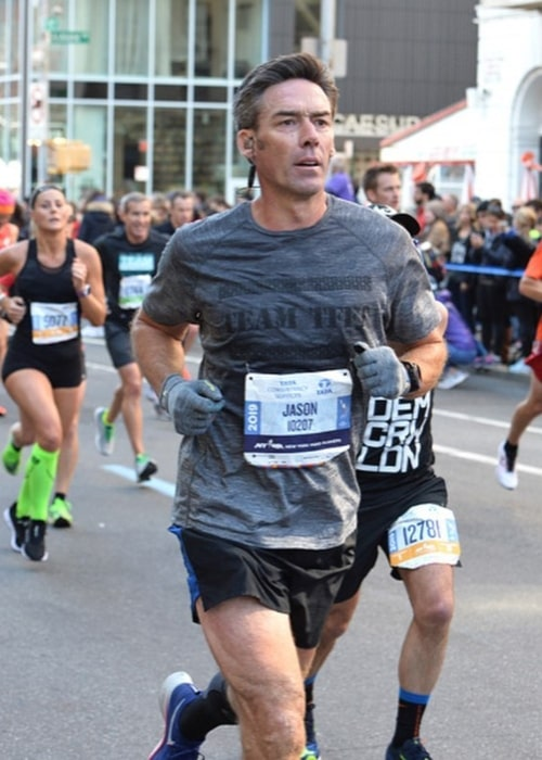Jason Sehorn as seen in a picture taken at the Central Park NYC Marathon Finish Line in November 2019