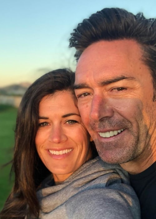 Jason Sehorn as seen in a selfie taken with his wife Meghann Hessert Gunderman at the Villas Del Mar Cabo in January 2020