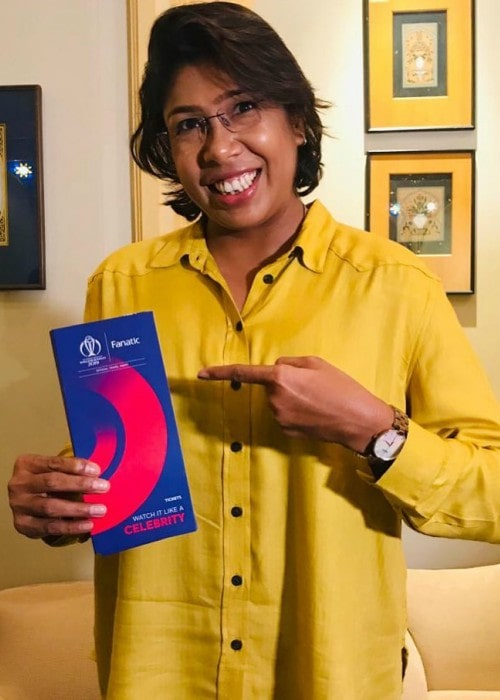 Jhulan Goswami as seen in May 2019