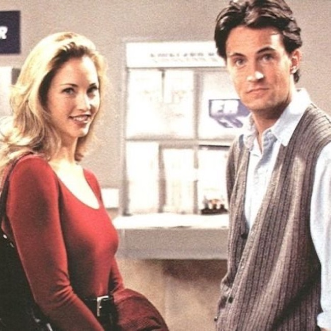 Jill Goodacre in a sill from the sitcom Friends in 1994
