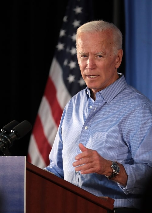Joe Biden as seen while speaking with supporters at a community event at the Best Western Regency Inn in Marshalltown, Iowa, United States in July 2019