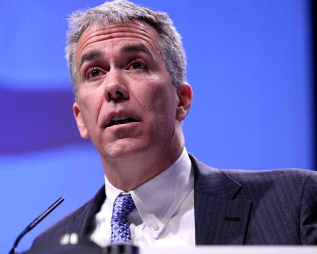 Joe Walsh pictured while speaking at CPAC 2011 in Washington, D.C., United States in February 2011