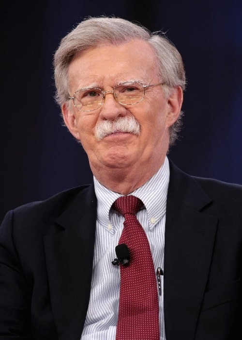 John Bolton as seen while speaking at the 2018 CPAC in National Harbor, Maryland, United States in February 2018