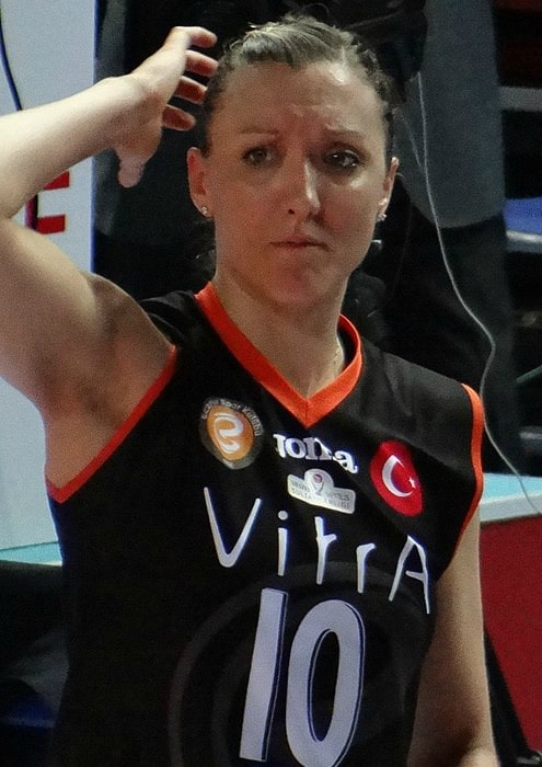 Jordan Larson as seen in April 2018