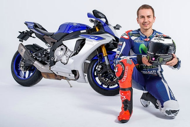 Jorge Lorenzo during a promotional photo shoot for ZOPO in 2016