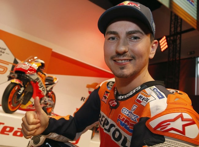 Jorge Lorenzo during an event in January 2019