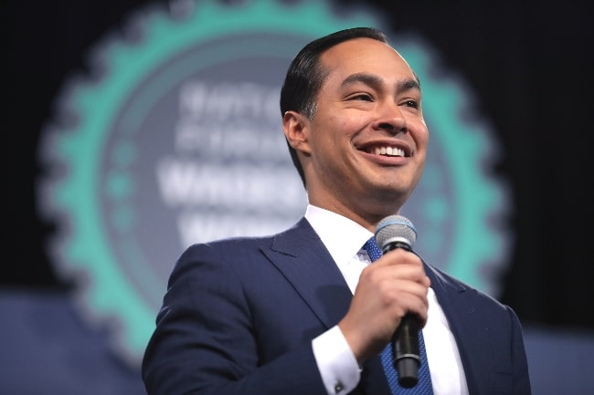 Julian Castro speaking with attendees at the 2019 National Forum on Wages and Working People hosted by the Center for the American Progress Action Fund and the SEIU at the Enclave in Las Vegas, Nevada