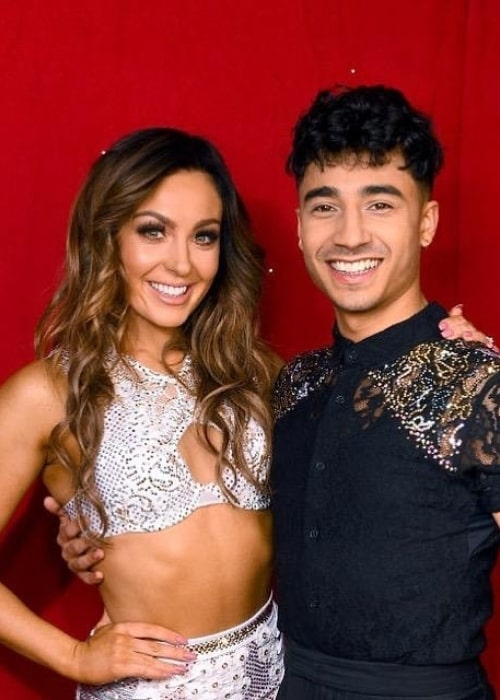 Karim Zeroual as seen in a picture taken with Welsh professional dancer and actress Amy Dowden on the set of Strictly Come Dancing in January 2020