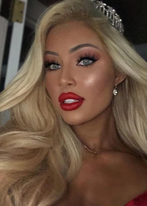 Katerina Rozmajzl as seen in a selfie taken in July 2019
