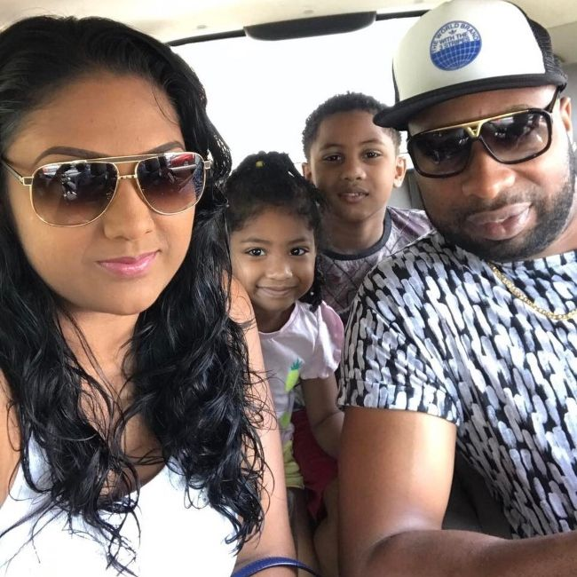 Kieron as seen with his wife Jenna, son Kaiden, and daughter Janiya in 2017