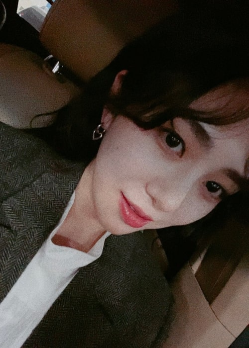 Kwon Mina as seen in a close-up selfie taken in December 2019