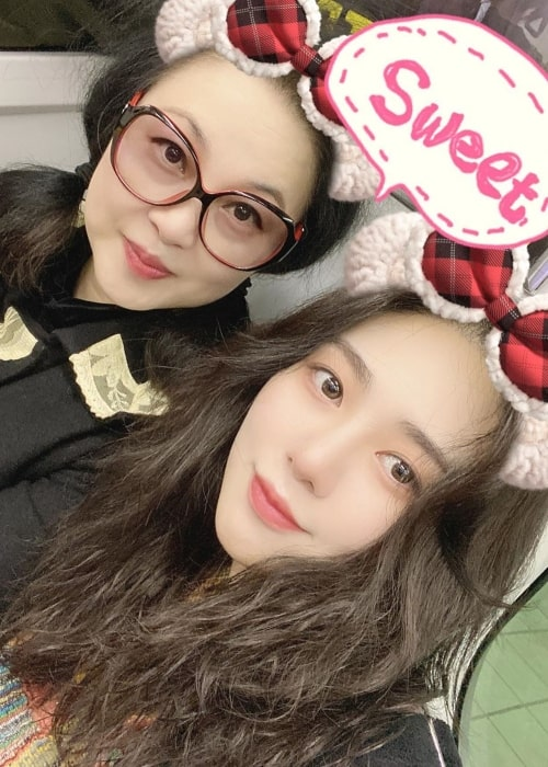 Kwon Mina as seen in a selfie taken with her mother taken in December 2019