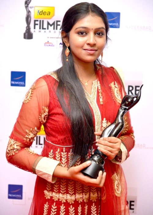 Lakshmi Menon as seen in a picture taken at the 60th South Filmfare Awards 2013