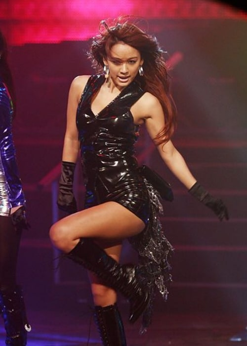 Lee Hyori as seen in a picture taken during a performance at the SBS Inkigayo on February 25, 2007