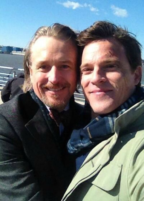Linus Roache (Left) and Mike Doyle in a selfie in April 2014