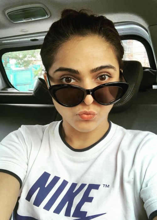 Madhurima Tuli in a selfie as seen in July 2019