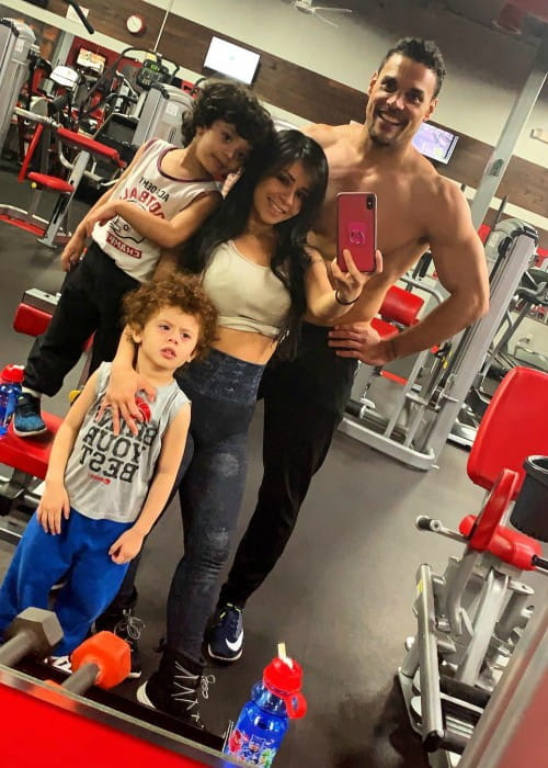 Marcus Patrick with his family as seen in April 2019