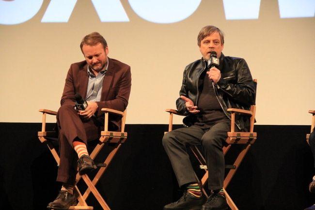 Mark Hamill and Rian Johnson at the SXSW film festival in 2018