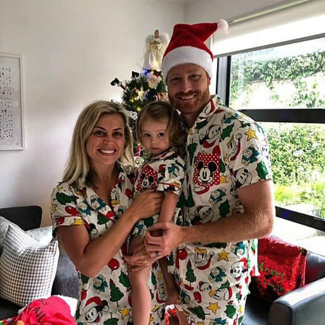 Martin Guptill with his family as seen in December 2019