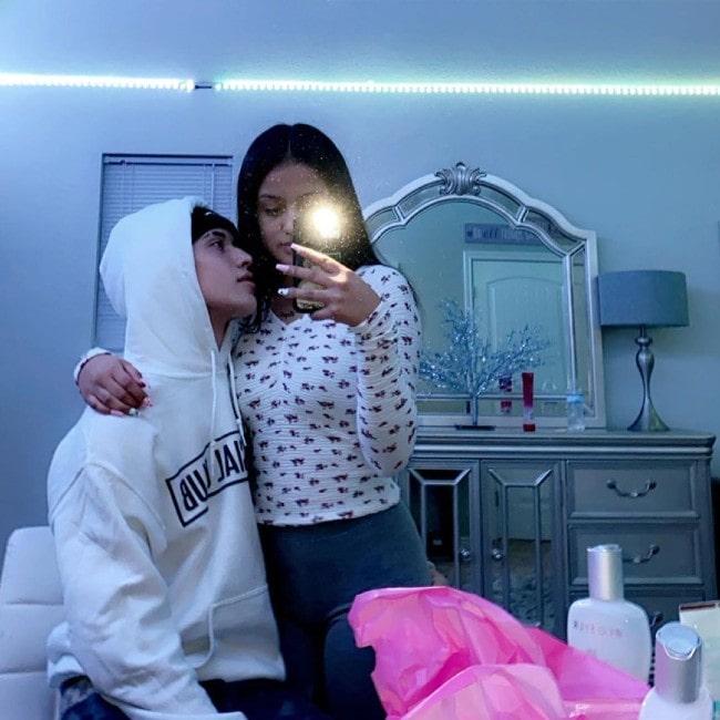 Mathew Valenzuela with his girlfriend Hazel as seen in January 2020