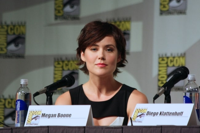 Megan Boone as seen in a picture taken during the San Diego Comic-Con in July 2013
