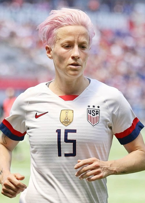 Megan Rapinoe during a match in May 2019