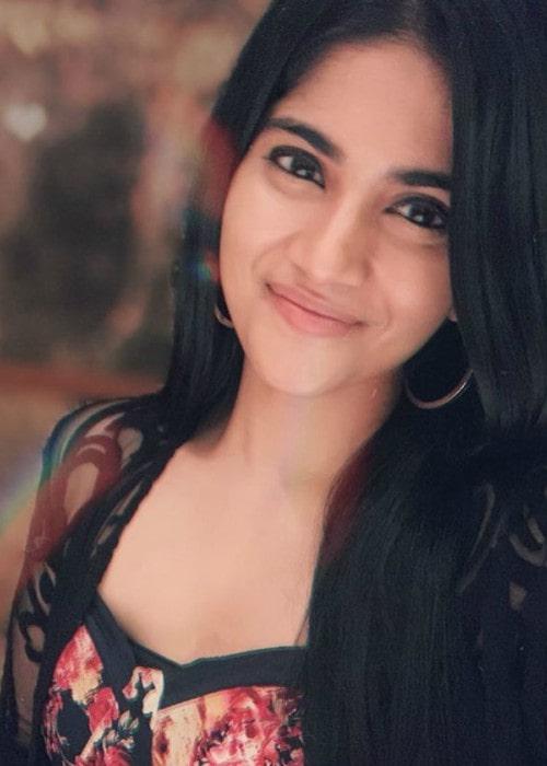 Megha Akash as seen in September 2019