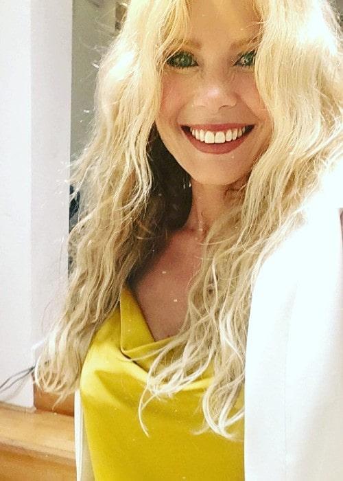 Melinda Messenger as seen in August 2018