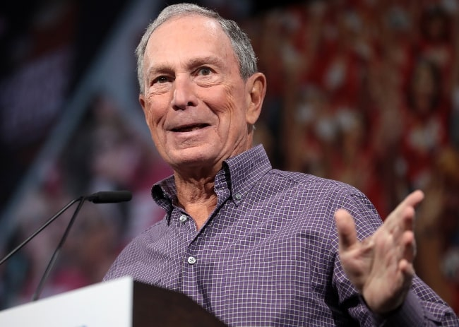 Michael Bloomberg speaking with attendees at the Presidential Gun Sense Forum hosted by Everytown for Gun Safety and Moms Demand Action at the Iowa Events Center in Des Moines, Iowa in August 2019