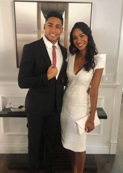 Michael Evans Behling as seen in a picture taken with his close friend, social media star Greta Onieogou Los Angeles, California in November 2019
