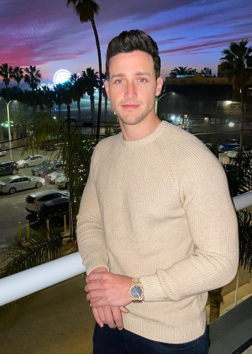 Mikhail Varshavski as seen while posing for the camera at Santa Monica Pier in Santa Monica, California, United States in December 2019