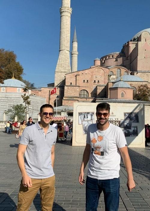 Miloš Biković (Left) as seen in a picture along with Miodrag Radonjic in Istanbul, Turkey in November 2019