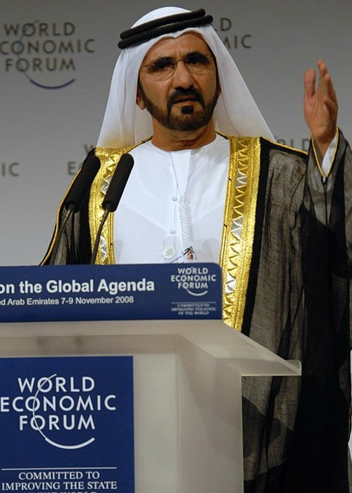 Mohammed bin Rashid Al Maktoum at the World Economic Forum Summit in November 2008