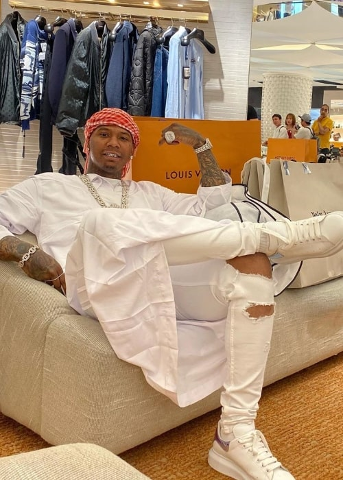 Moneybagg Yo as seen while smiling in a picture taken at The Dubai Mall in Dubai, United Arab Emirates in December 2019